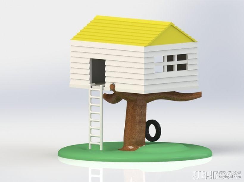 迷你树屋模型 3D模型  图1