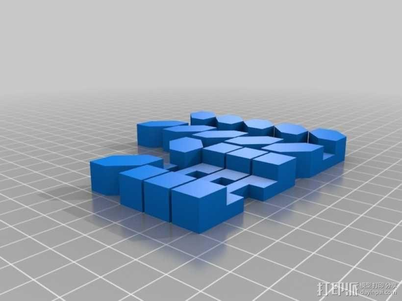 3D星号拼图模型 3D模型  图2