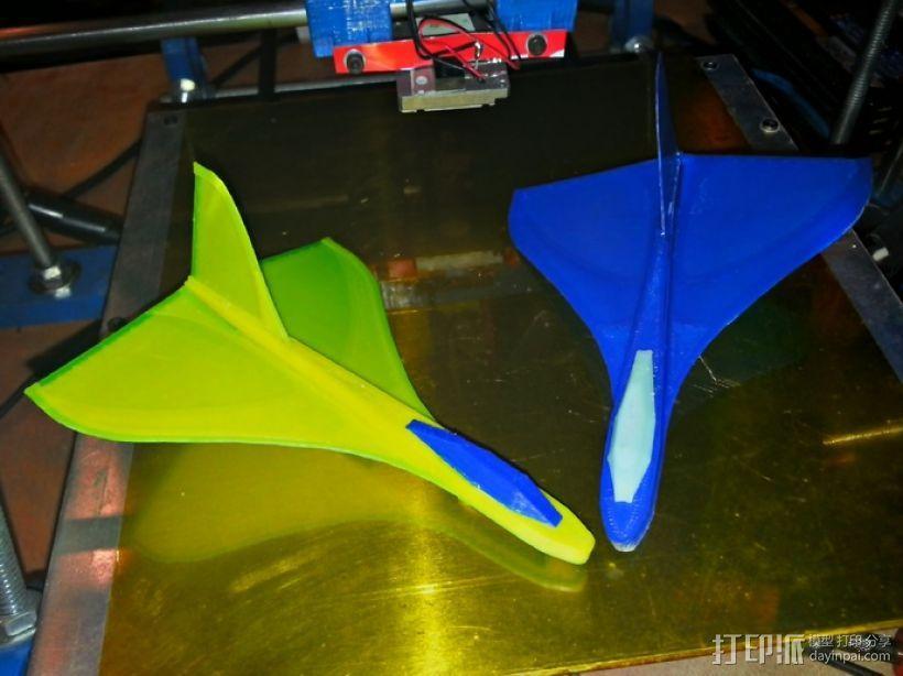 滑翔机形飞镖模型 3D模型  图1