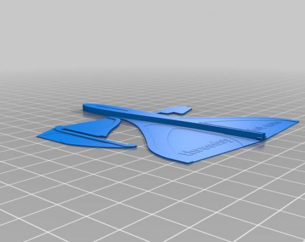 滑翔机形飞镖模型 3D模型  图3