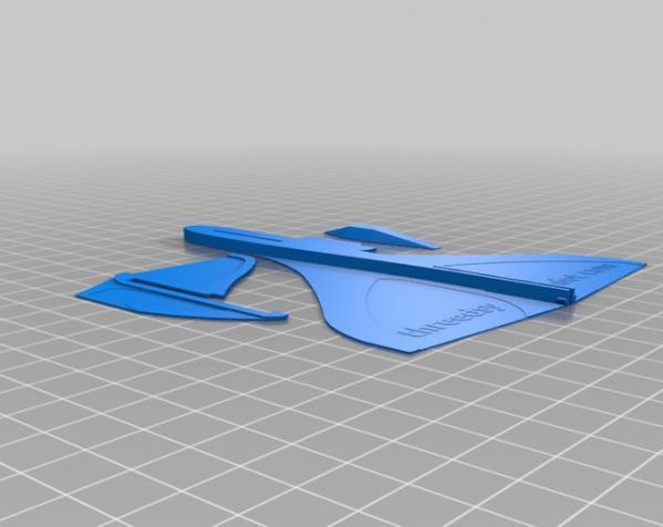 滑翔机形飞镖模型 3D模型  图4