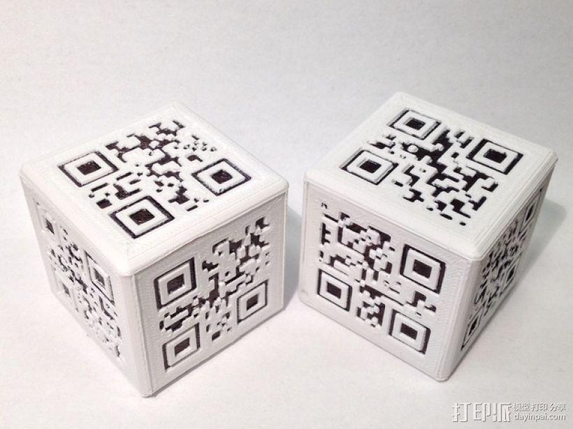 二维码骰子模型 3D模型  图1