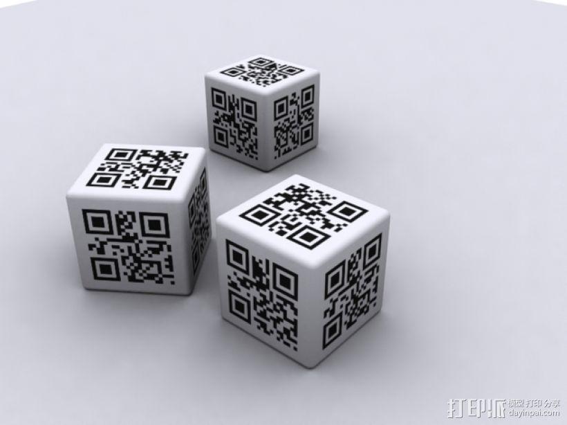 二维码骰子模型 3D模型  图2