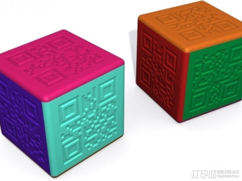 二维码骰子模型 3D模型  图3