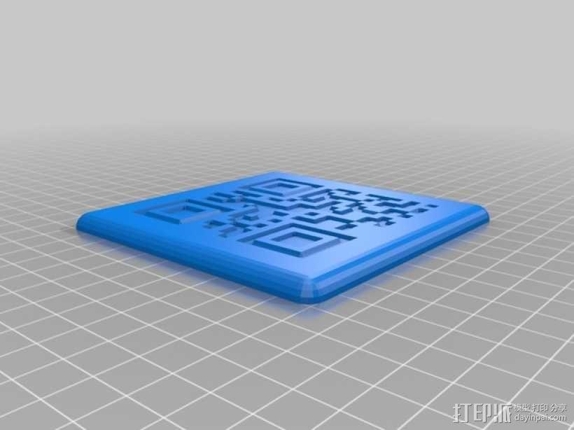 二维码骰子模型 3D模型  图4