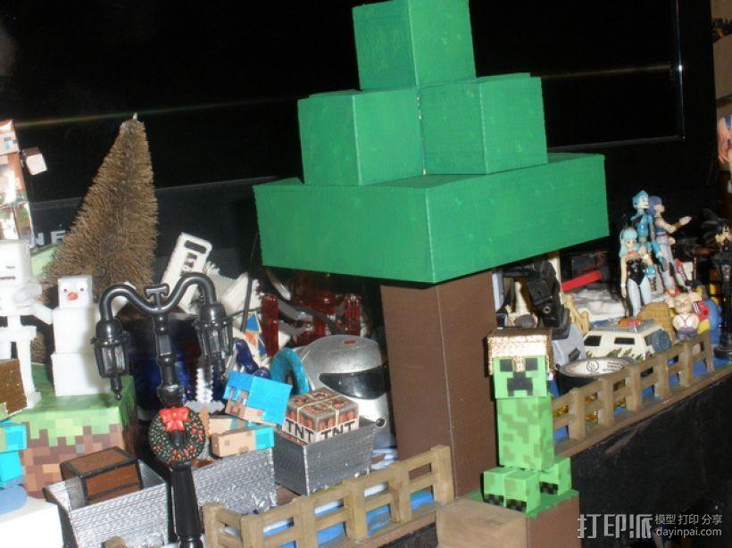 Minecraft树木模型 3D模型  图1