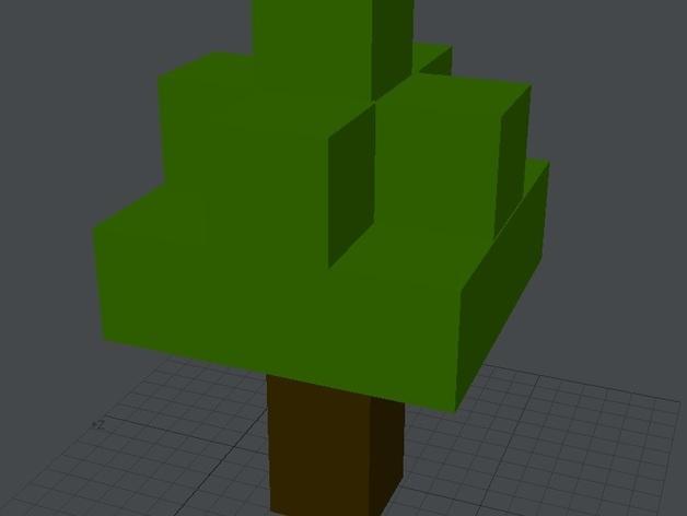 Minecraft树木模型 3D模型  图4