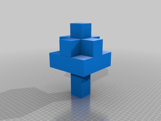 Minecraft树木模型 3D模型  图7