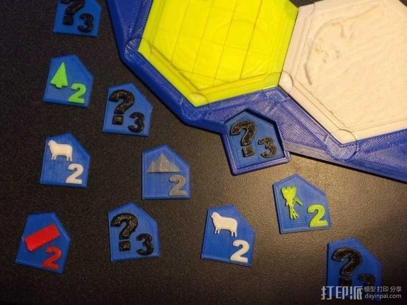 卡坦岛游戏瓦片模型 3D模型  图1