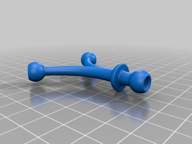 Y形连接器模型 3D模型  图3