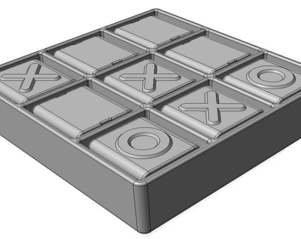 迷你井子棋模型 3D模型  图2