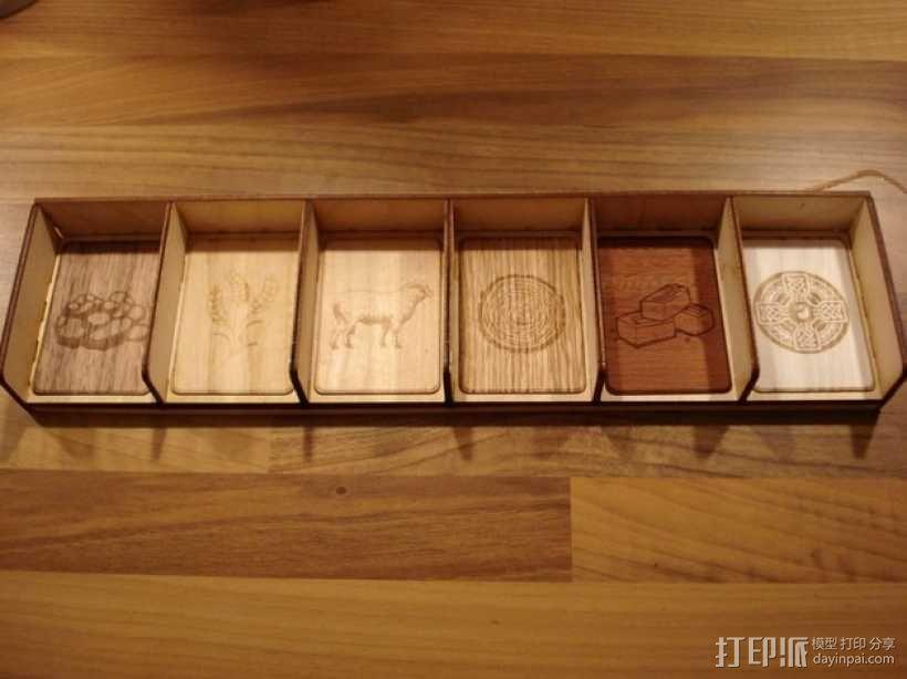 卡坦岛多格游戏卡盒模型 3D模型  图3