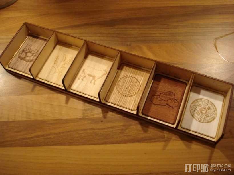 卡坦岛多格游戏卡盒模型 3D模型  图1