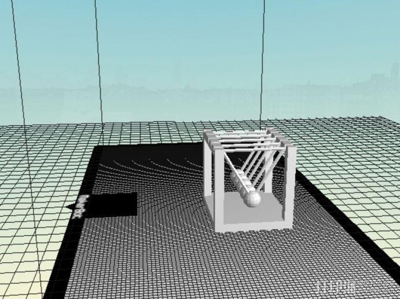 迷你牛顿摆模型 3D模型  图3