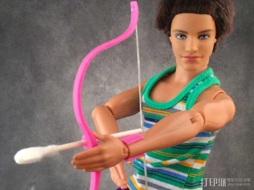 迷你反曲弓和护腕模型 3D模型  图2