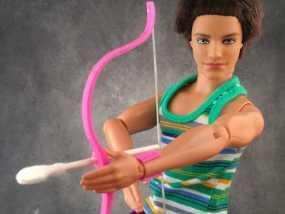 迷你反曲弓和护腕模型 3D模型