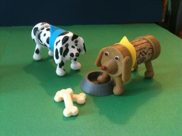 软木小狗零部件模型 3D模型  图3