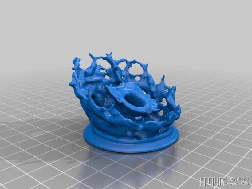水花形状的笔架 3D模型  图4