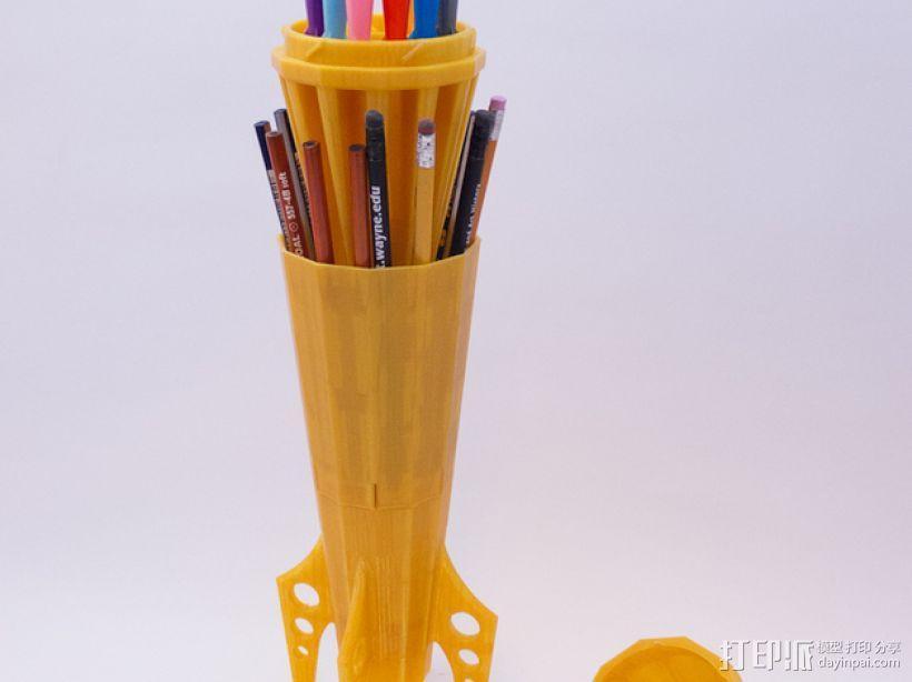 火箭 铅笔盒 3D模型  图5