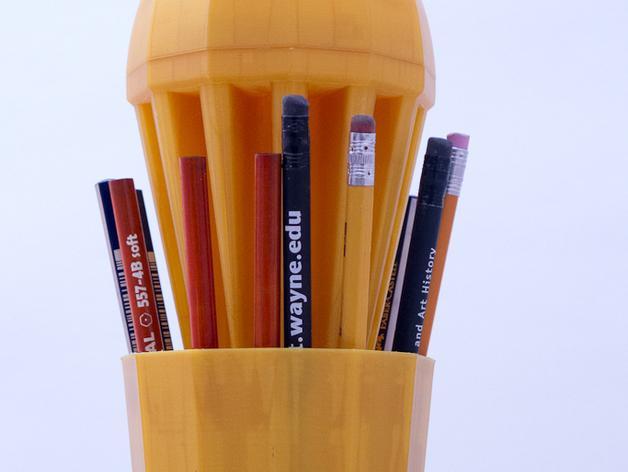 火箭 铅笔盒 3D模型  图3