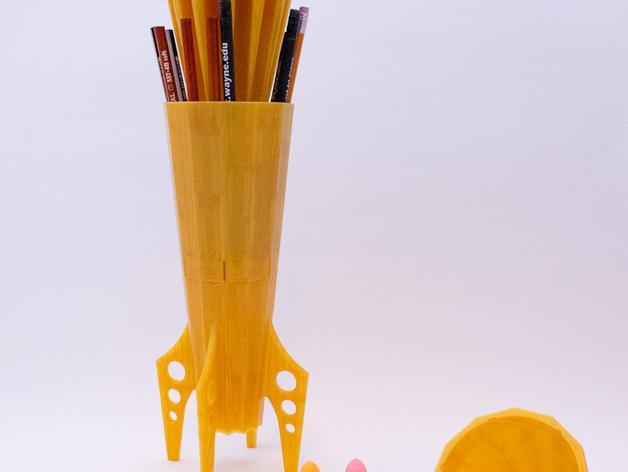 火箭 铅笔盒 3D模型  图6
