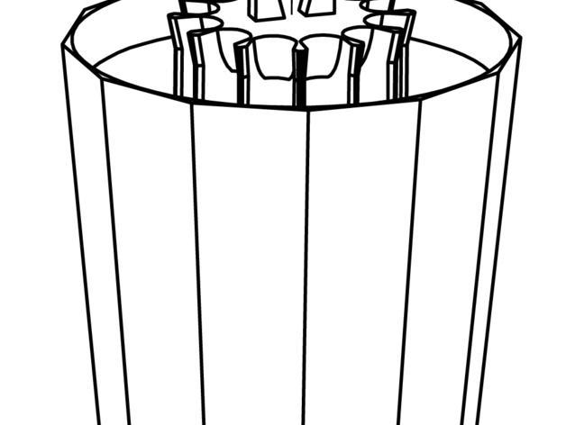 火箭 铅笔盒 3D模型  图7