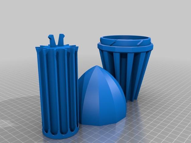火箭 铅笔盒 3D模型  图10
