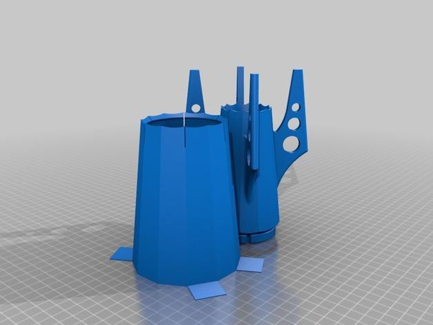 火箭 铅笔盒 3D模型  图9