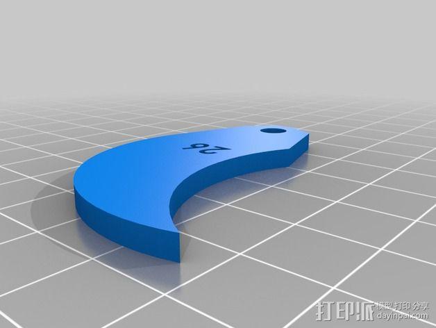半径量规 3D模型  图34