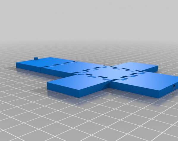 铰链 正方体盒子 3D模型  图2