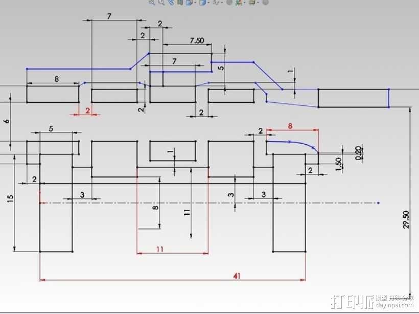 涡轮旋转工具配件 3D模型  图5