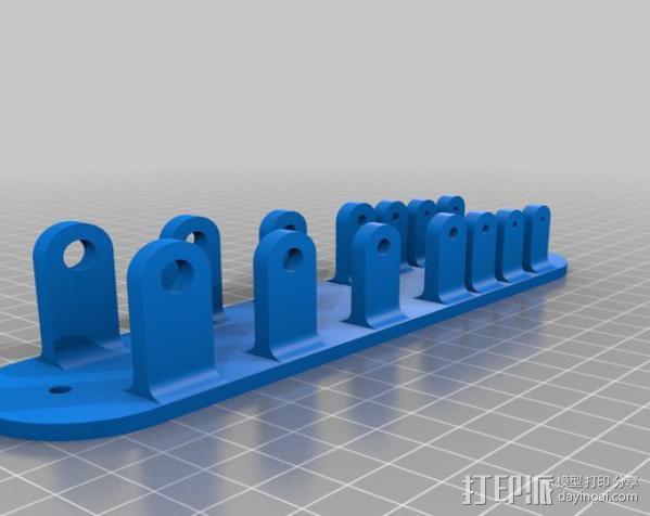挂墙式扳手架 3D模型  图1