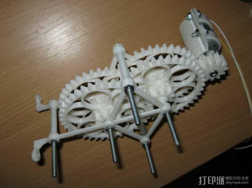 减速齿轮(1:256) 3D模型  图1