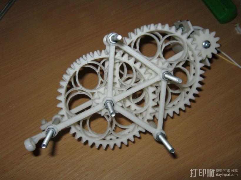 减速齿轮(1:256) 3D模型  图2