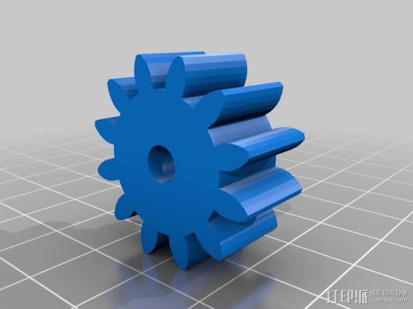 减速齿轮(1:256) 3D模型  图9