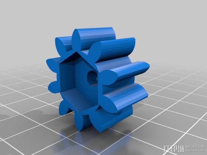 减速齿轮(1:256) 3D模型  图10
