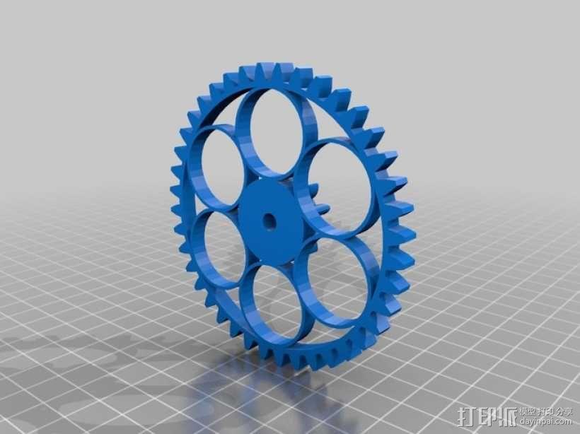 减速齿轮(1:256) 3D模型  图12
