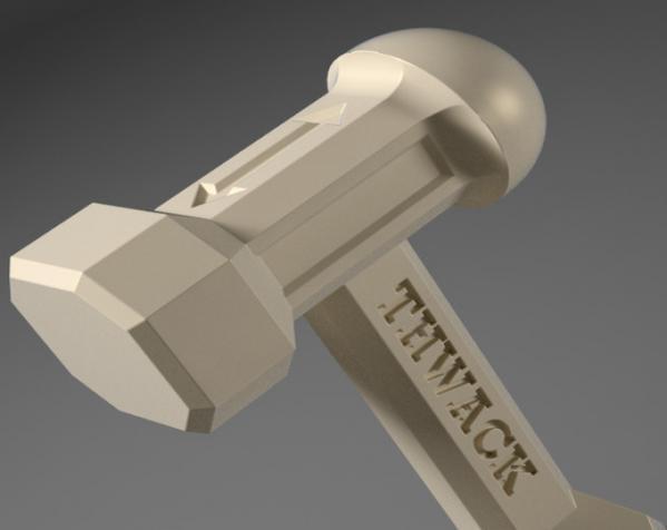 THWACK塑料锤 3D模型  图3