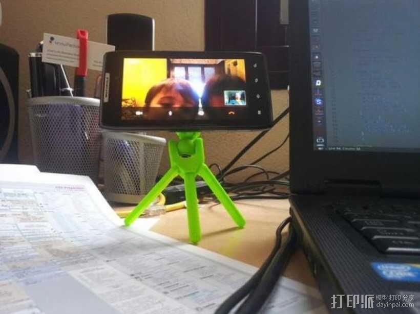 手机三脚架 3D模型  图1