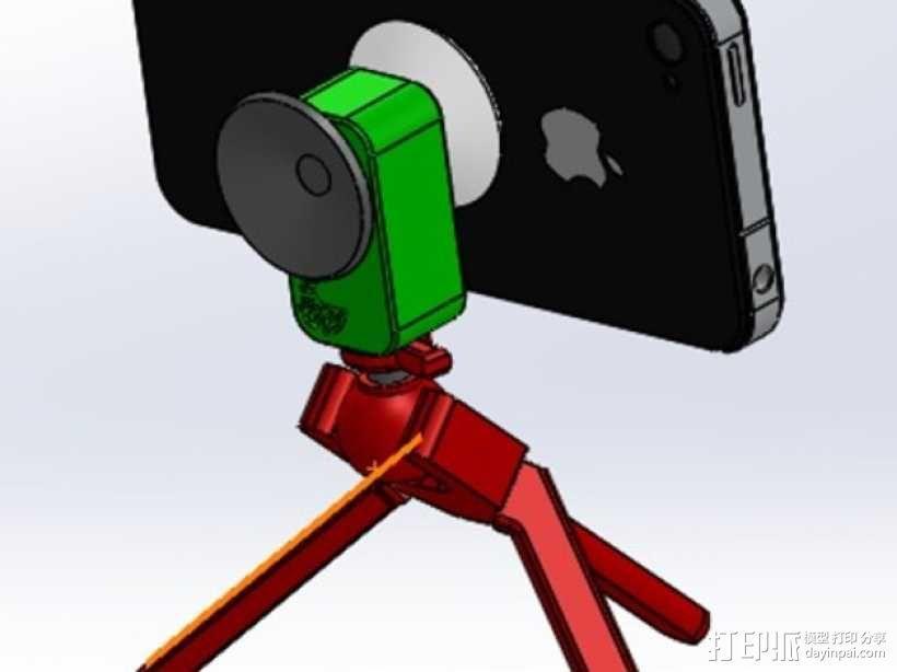 手机三脚架 3D模型  图10