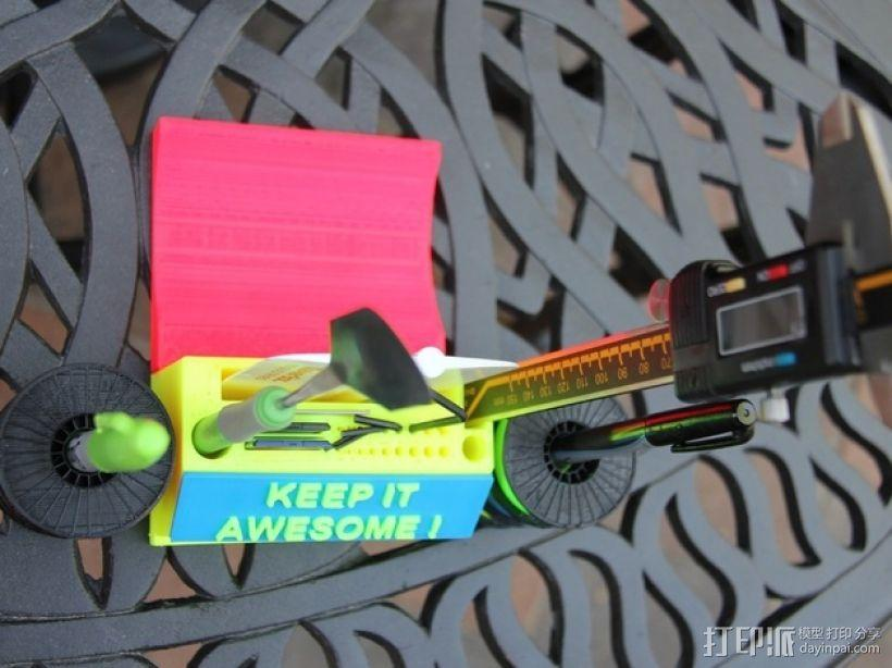 彩虹色工作台 3D模型  图9