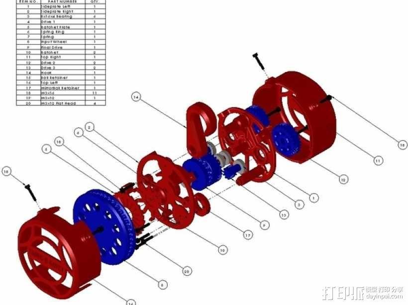 O形链式起重机 3D模型  图2