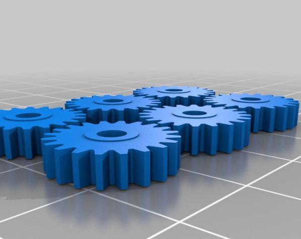 IXO齿轮 3D模型  图1