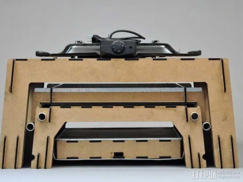 热压成型机 3D模型  图1
