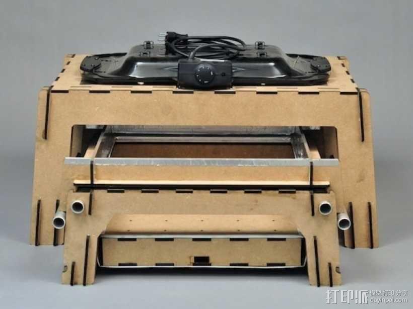 热压成型机 3D模型  图2