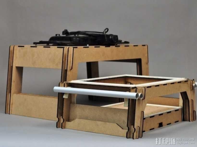 热压成型机 3D模型  图5