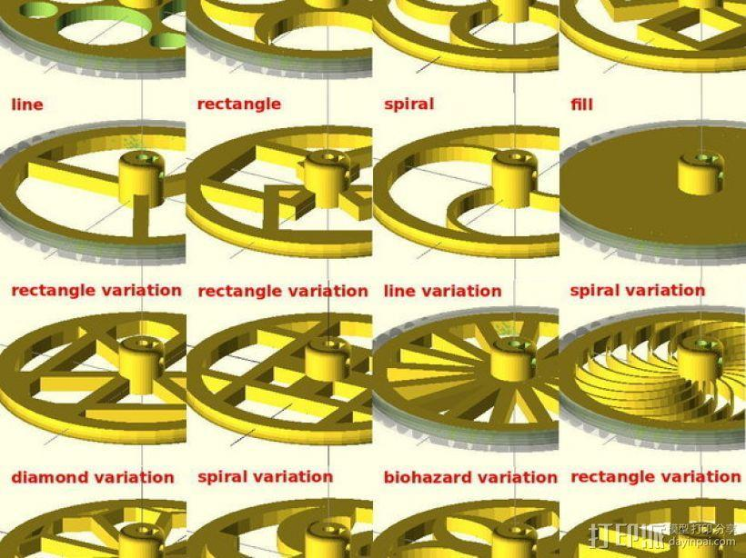 花式轮子 3D模型  图1