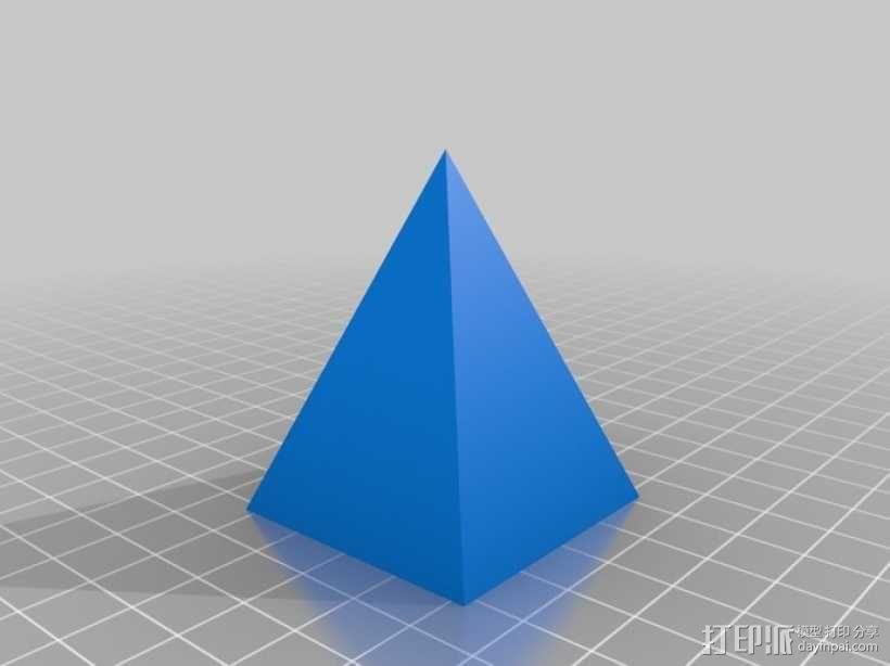 金字塔形储物盒 3D模型  图2