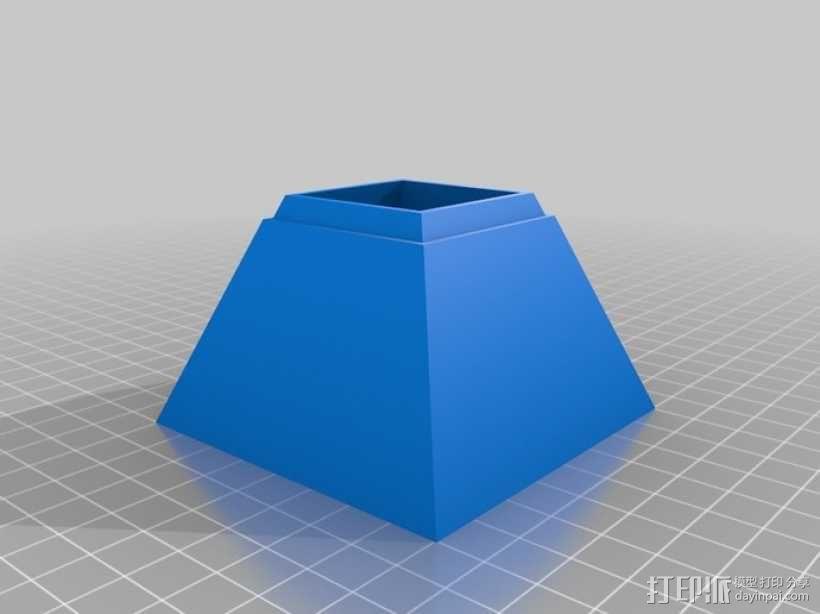 金字塔形储物盒 3D模型  图1