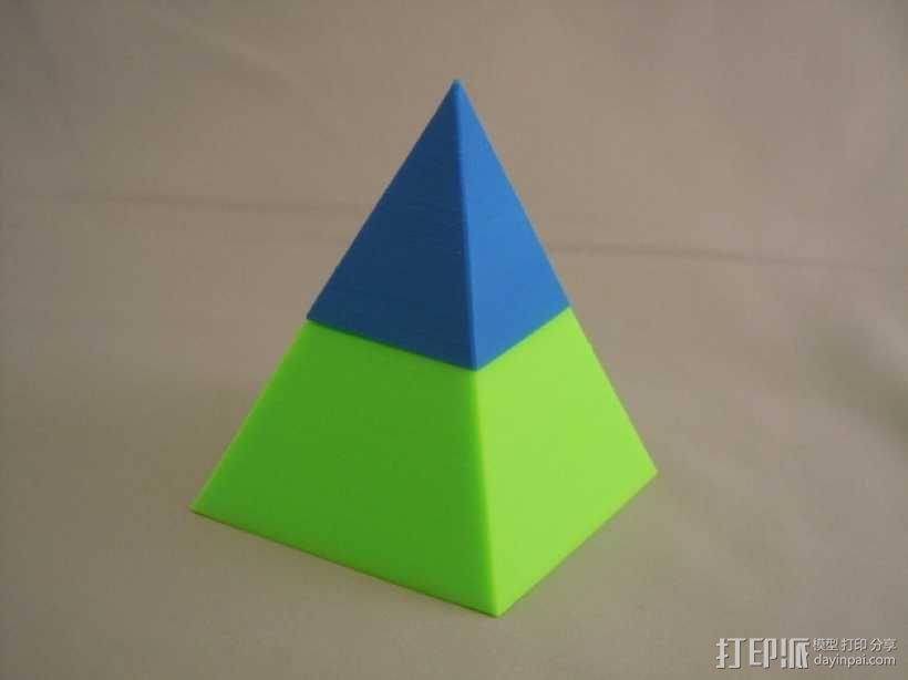 金字塔形储物盒 3D模型  图4